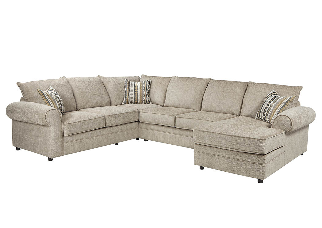 Compass Furniture Cream Sectional