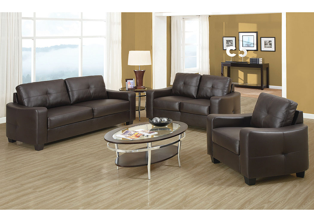 Brown Sofa and Loveseat,Coaster Furniture