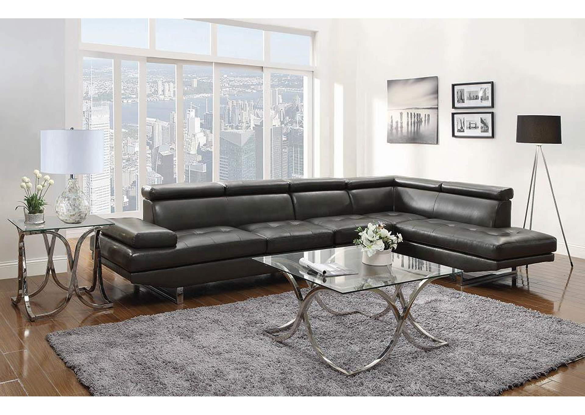 Charcoal Sectional,Coaster Furniture