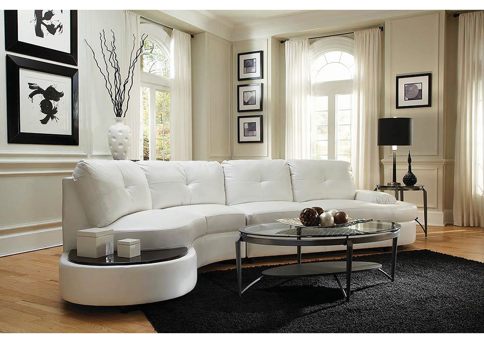 Talia White Sectional,Coaster Furniture