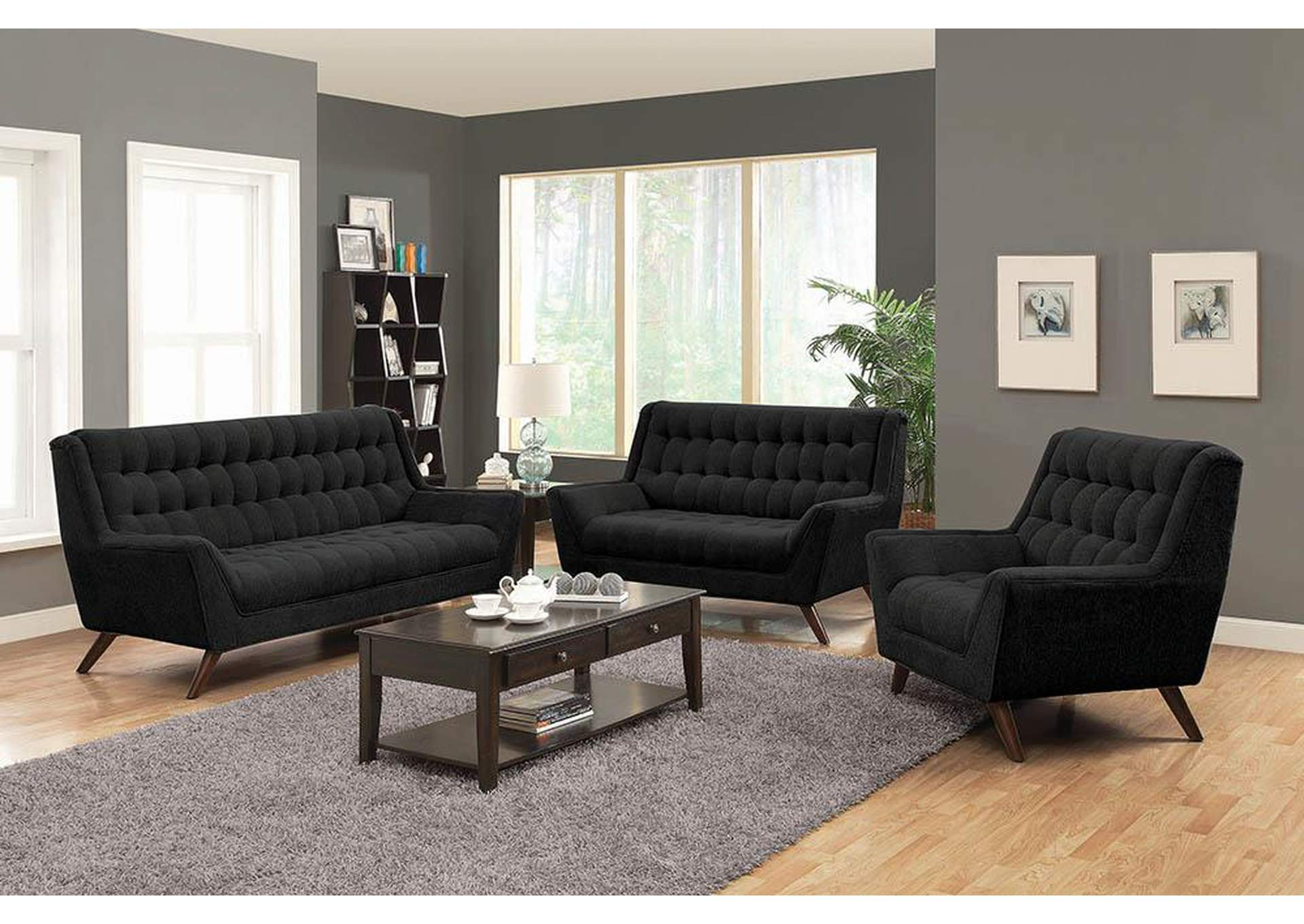 Austin's Couch Potatoes | Furniture Stores Austin, Texas Black Chair
