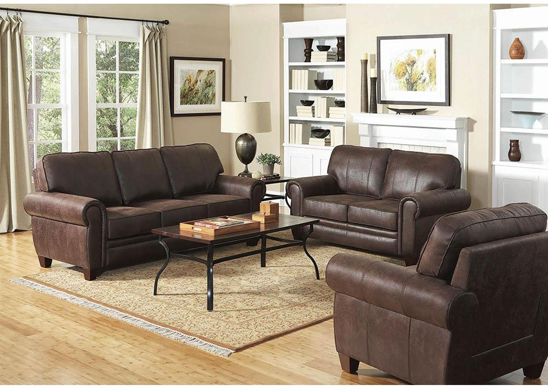 Bentley Brown Love Seat,Coaster Furniture