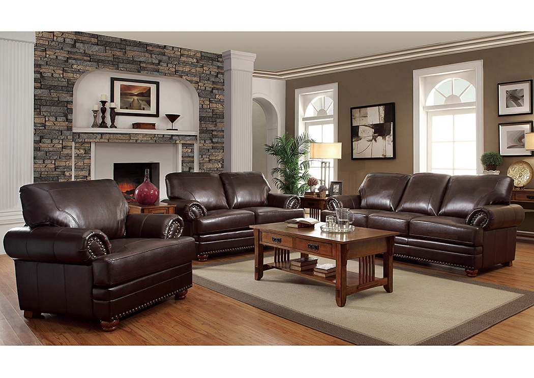 Colton Brown Sofa & Loveseat,Coaster Furniture
