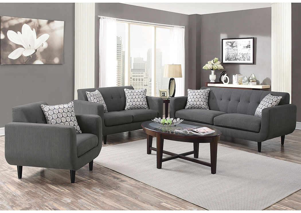 Grey Sofa and Loveseat,Coaster Furniture