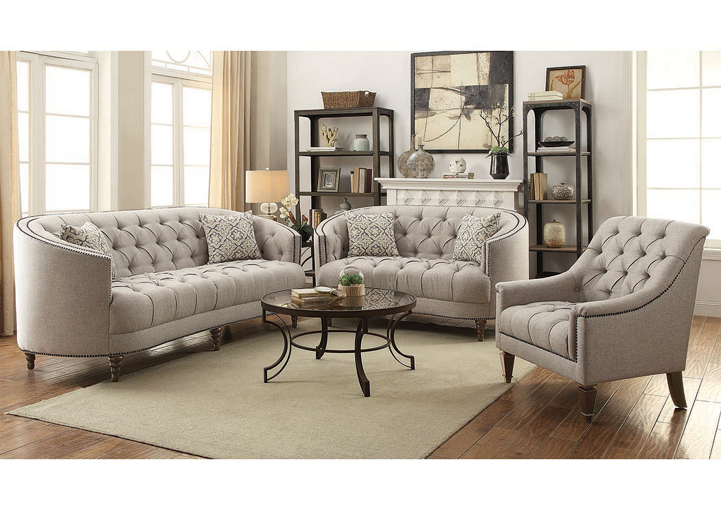 Brown Sofa & Loveseat,Coaster Furniture
