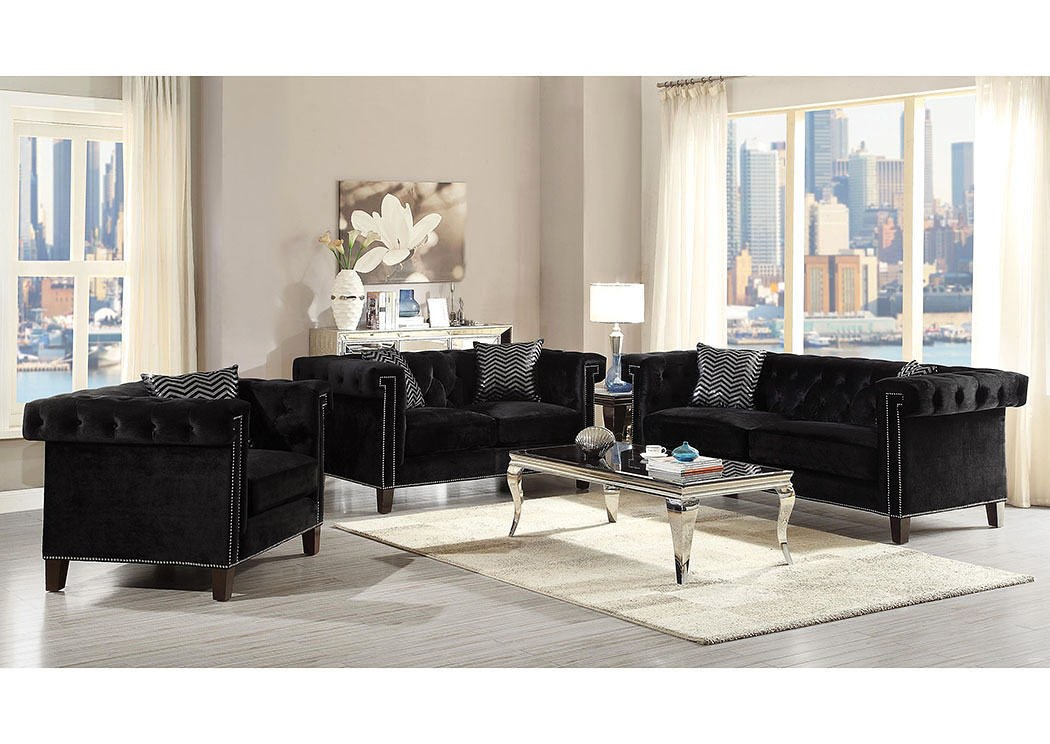 Austin 39 s couch potatoes furniture stores austin texas for Black front room furniture