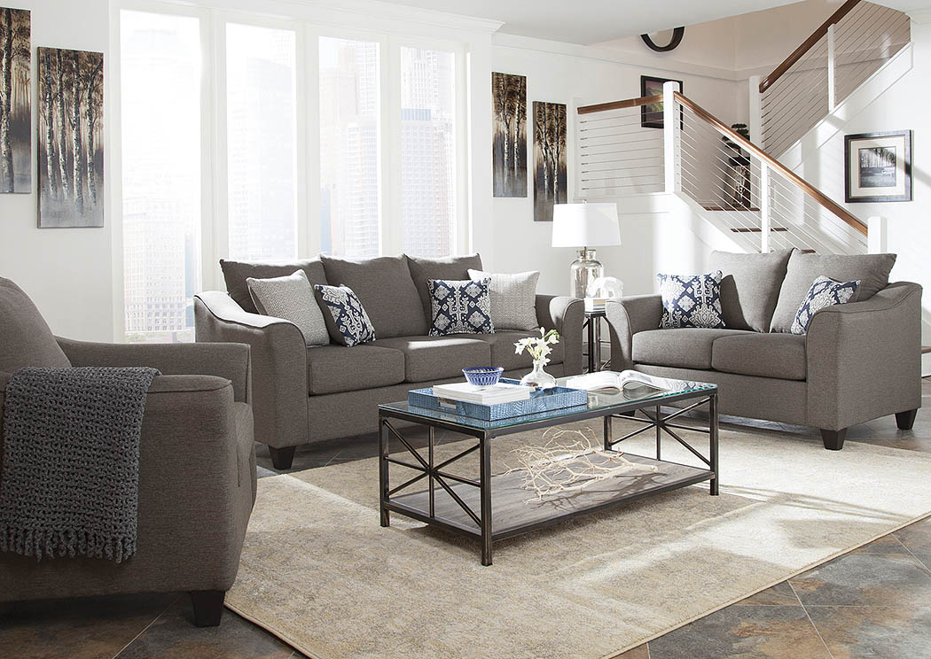 Austin 39 s couch potatoes furniture stores austin texas for Grey front room furniture