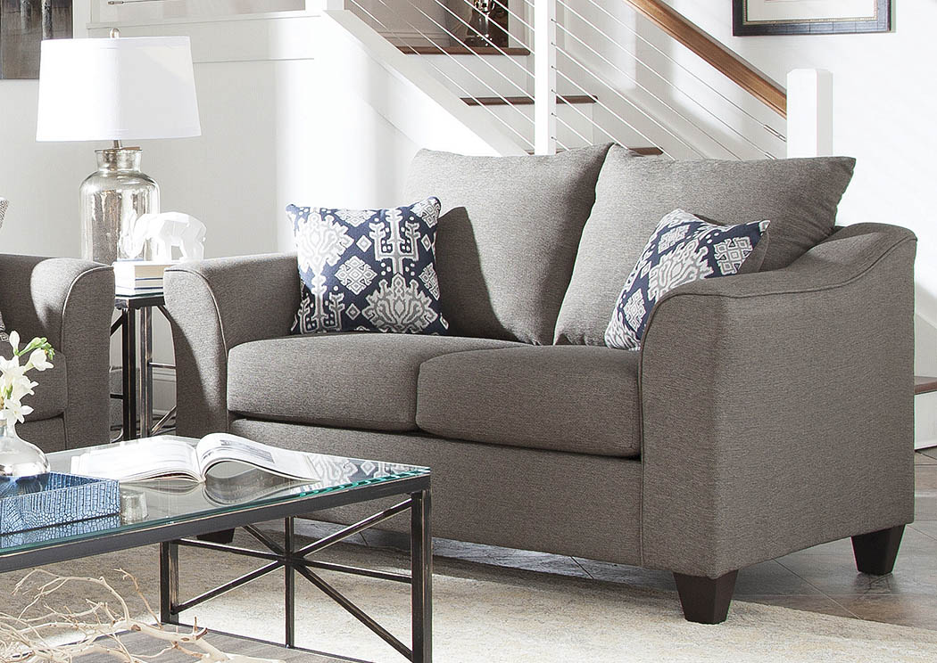 Merveilleux Salizar Grey Loveseat,Coaster Furniture