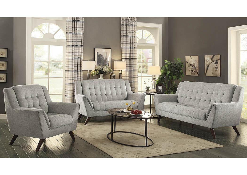 Baby Natalia Dove Grey Sofa And Loveseat,Coaster Furniture