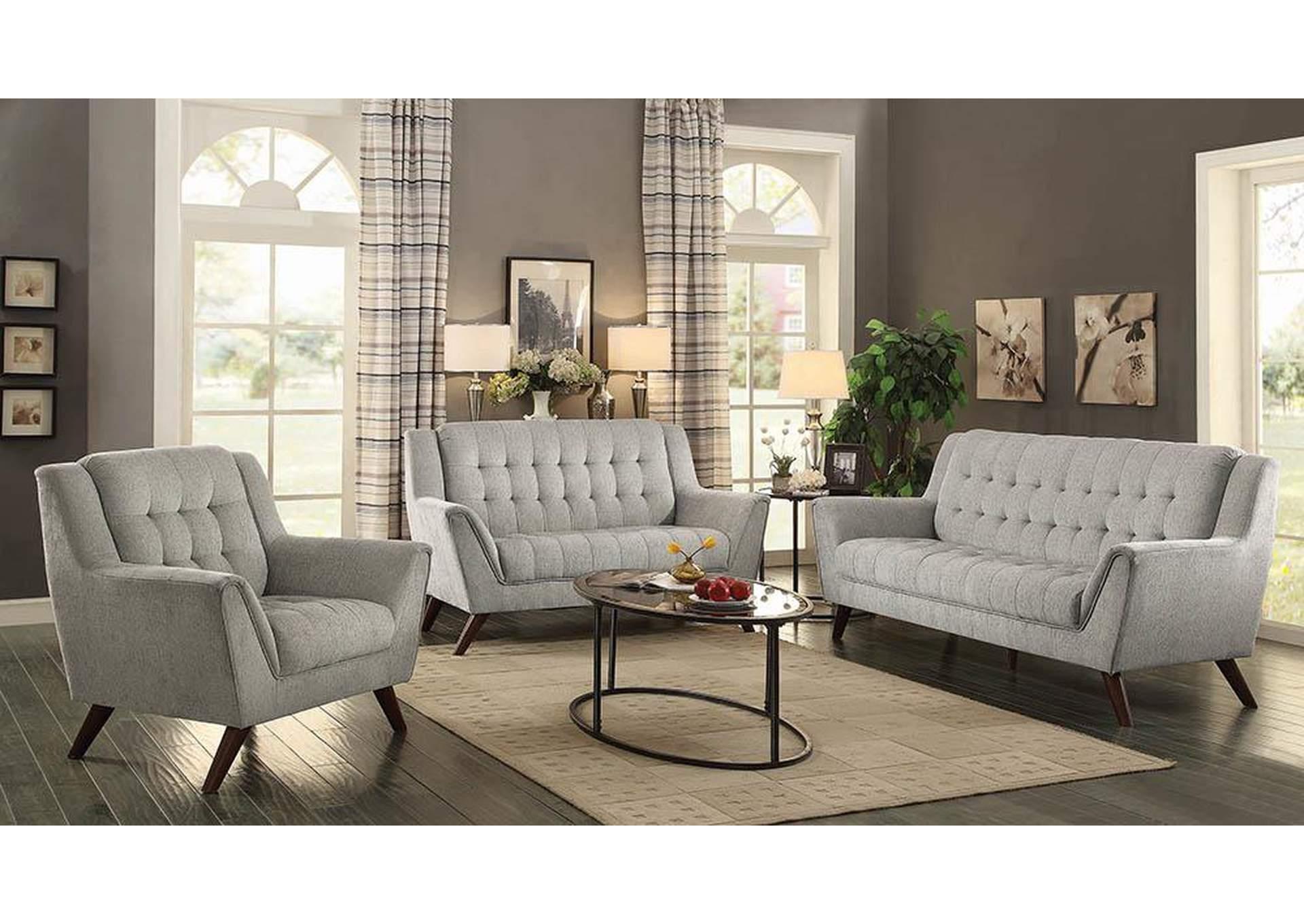 Baby Natalia Dove Grey Loveseat,Coaster Furniture
