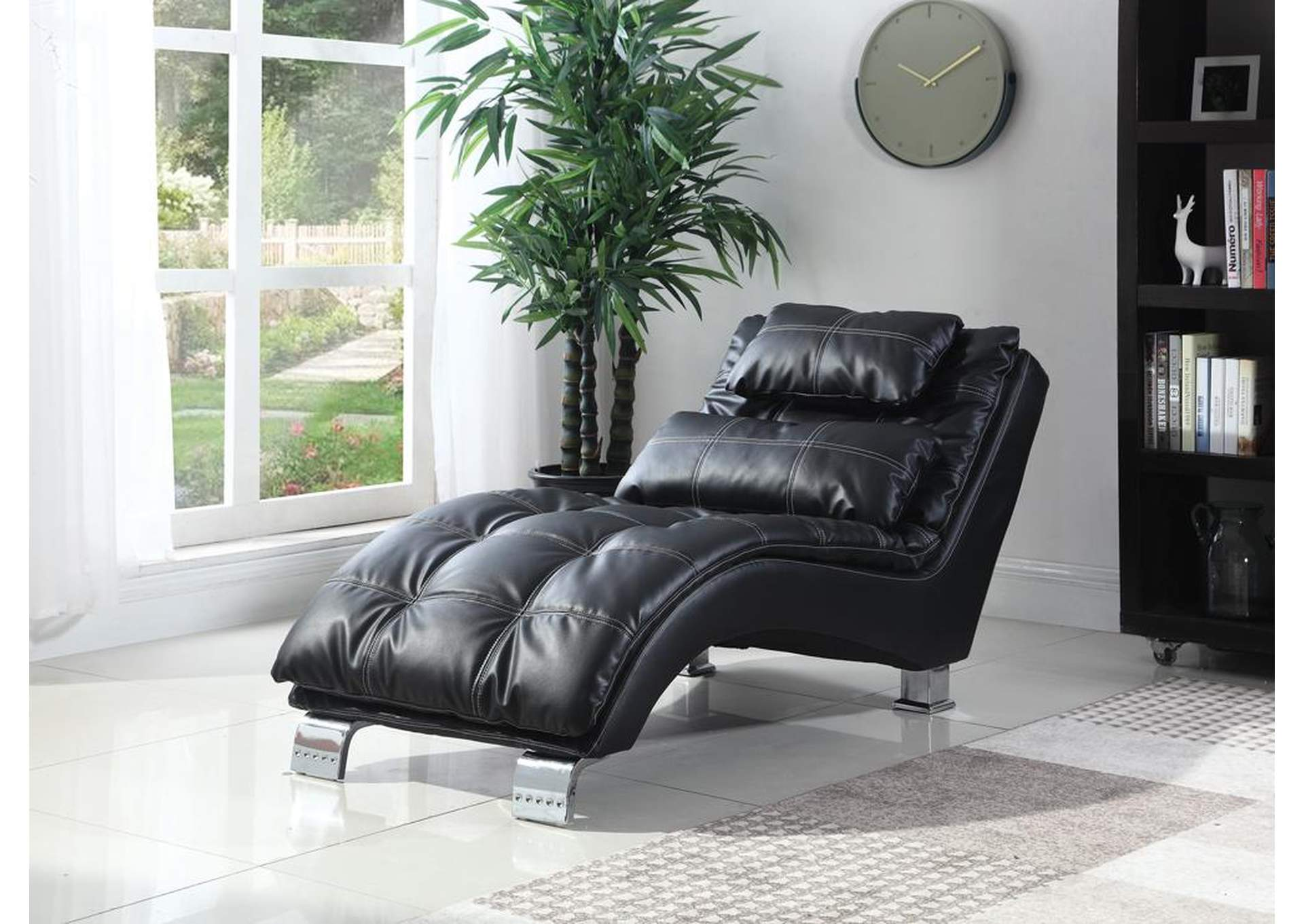 Black Chaise,Coaster Furniture