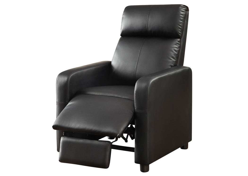 Toohey Black Push-Back Recliner,ABF Coaster Furniture