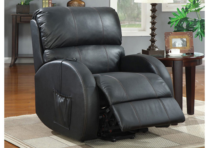 Fat Daddy s Furniture Black Power Lift Recliner