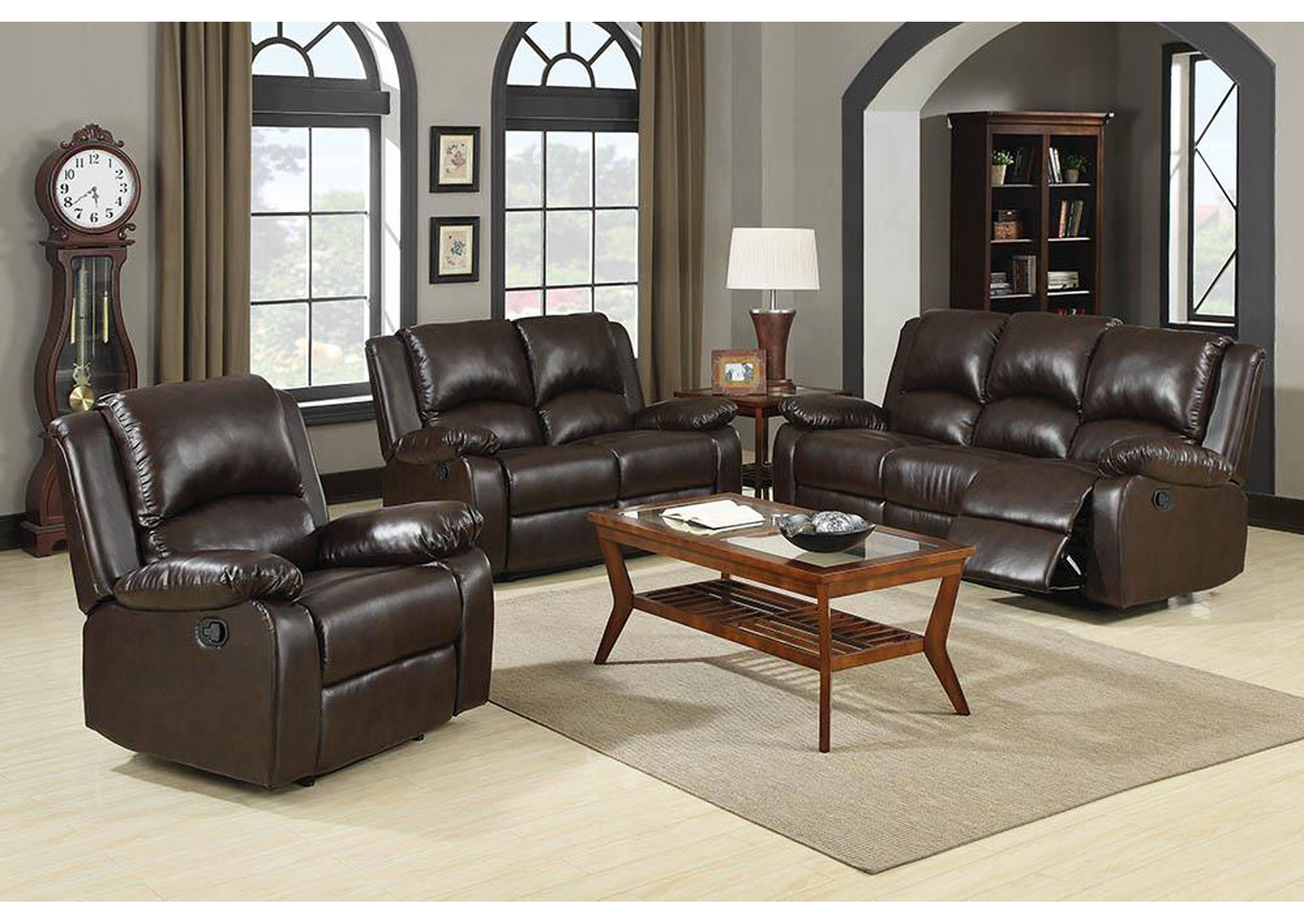 Boston Brown Motion Sofa,Coaster Furniture