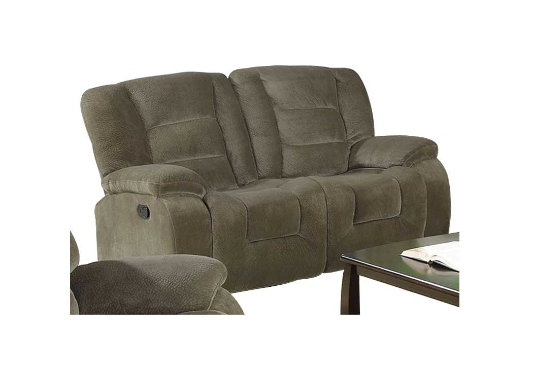 Charlie Brown Siege Double Gliding Love Seat w/ Console,Coaster Furniture