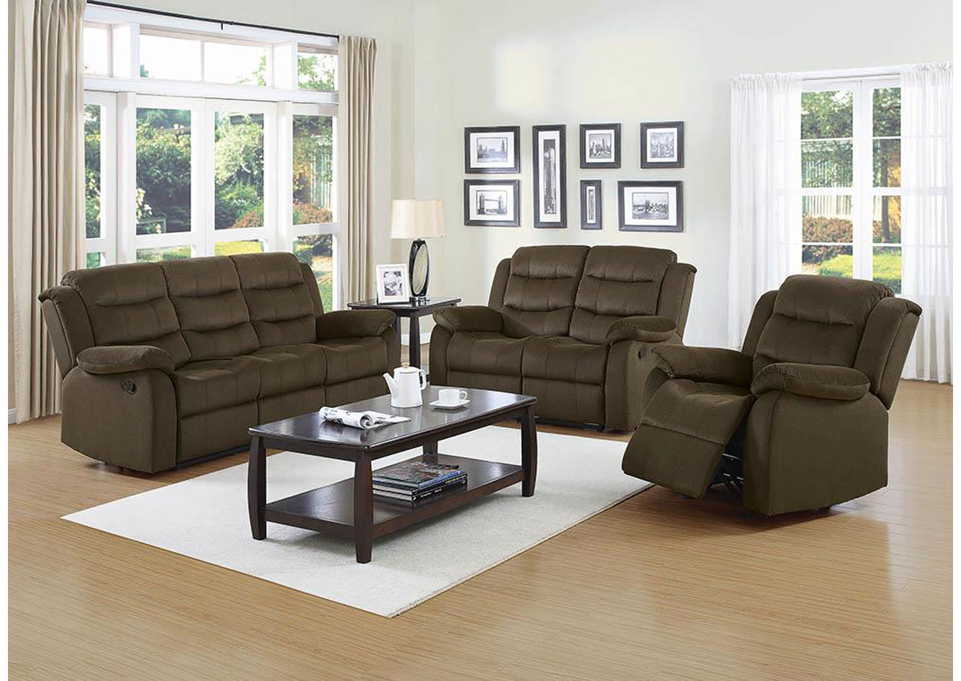 Morrison 39 S Furniture Brown Reclining Loveseat