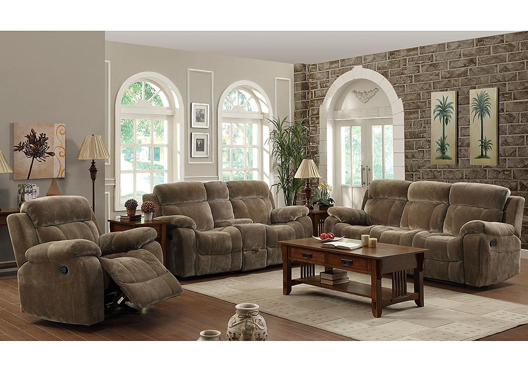 Harlem Furniture Myleene Brown Reclining Sofa Loveseat
