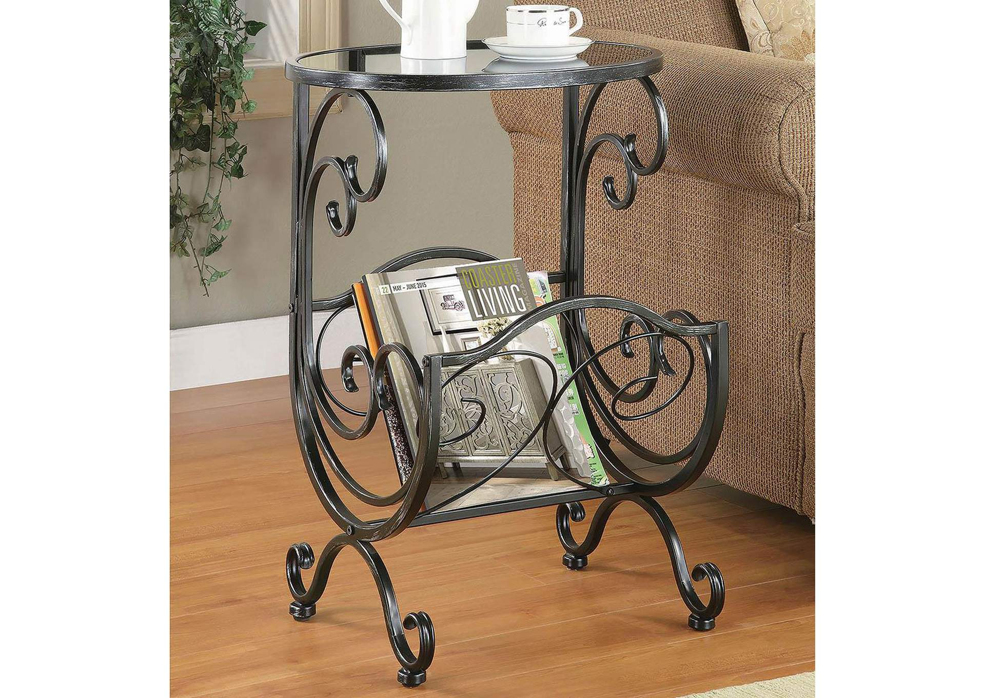 Gun Metal Accent Table,Coaster Furniture