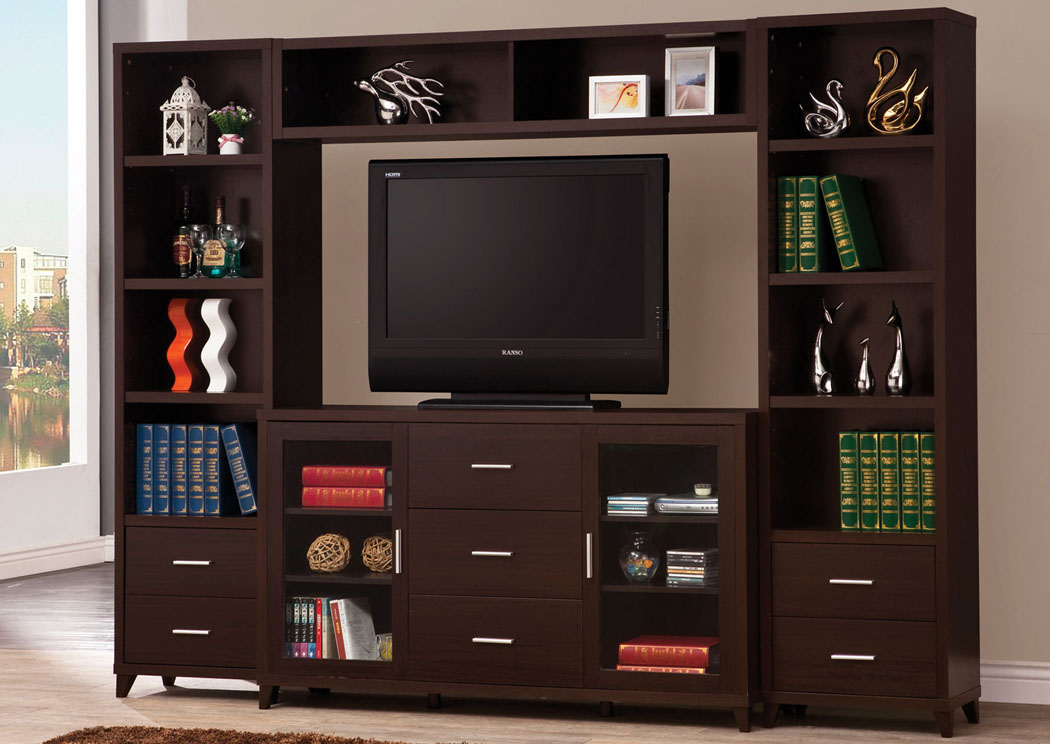 Cappuccino Entertainment Center,Coaster Furniture