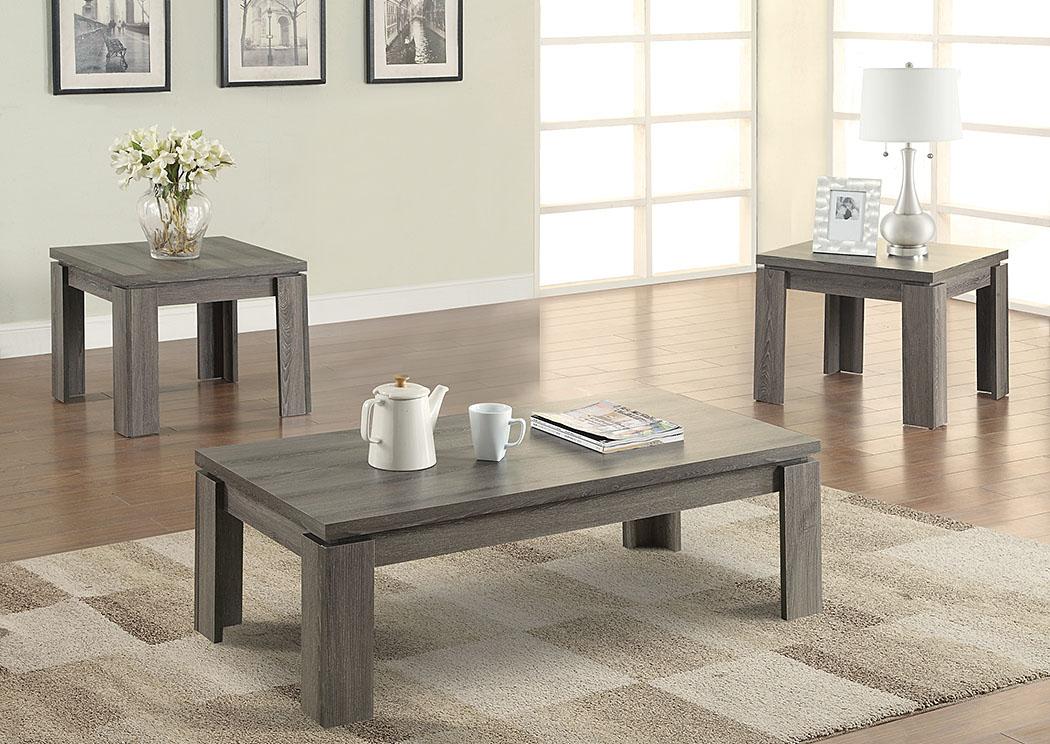 Harlem Furniture Dark Grey 3 Pc Table Set