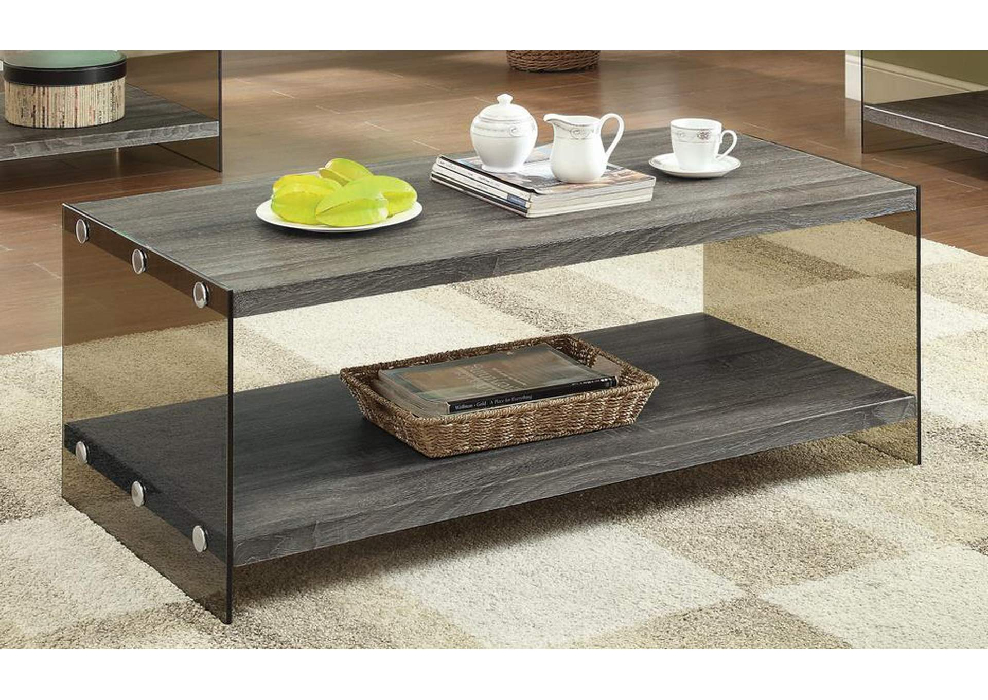 Compass Furniture Grey Coffee Table