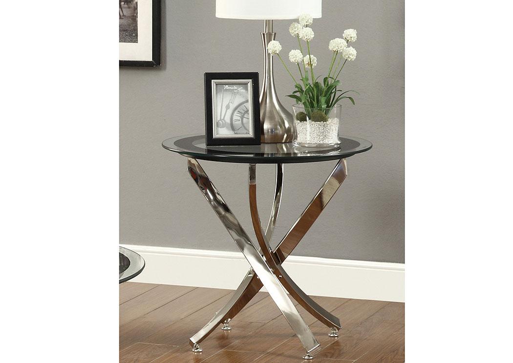National Furniture Outlet Westwego La Black Nickel End Table