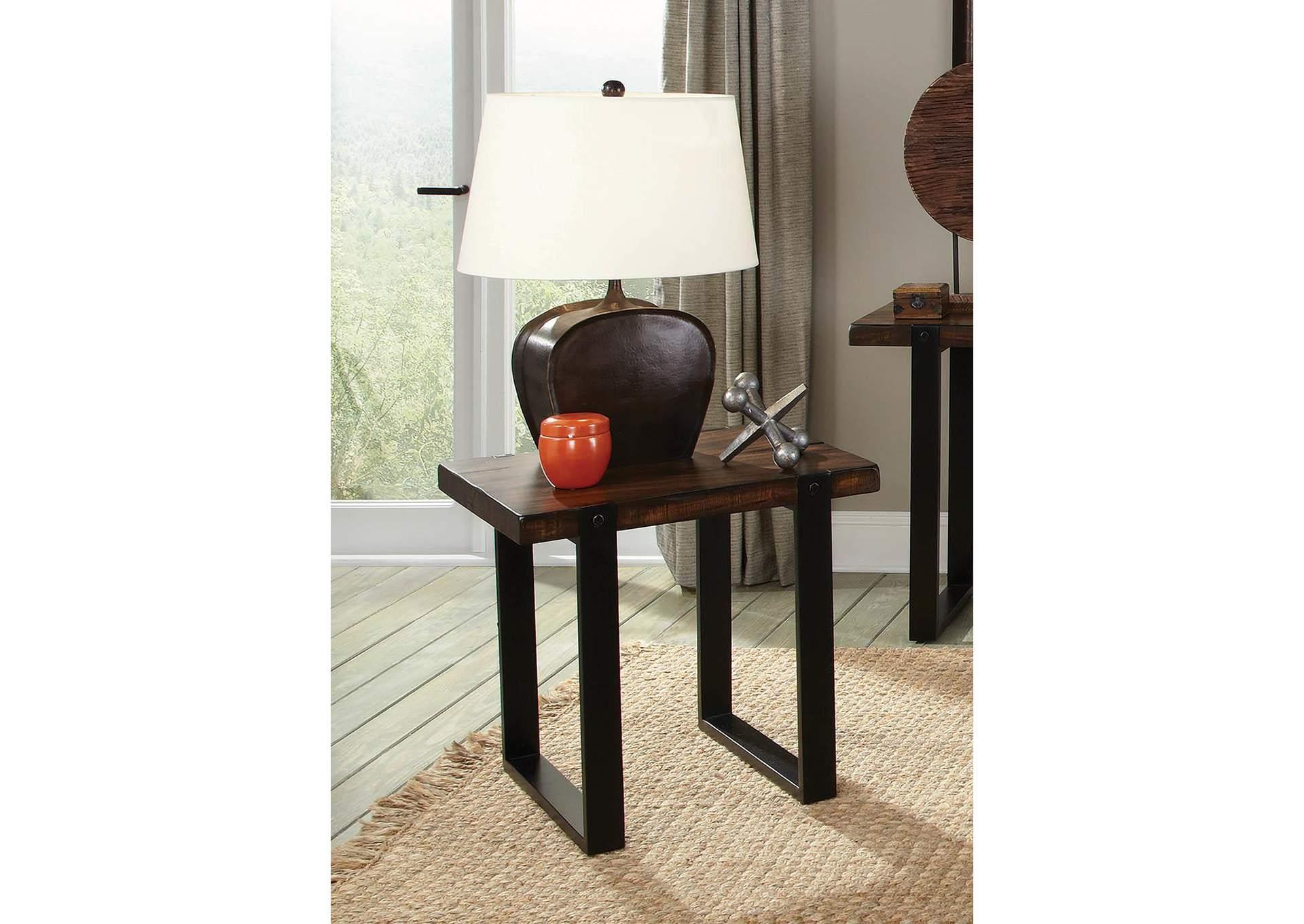 Harlem Furniture Brown Black End Table