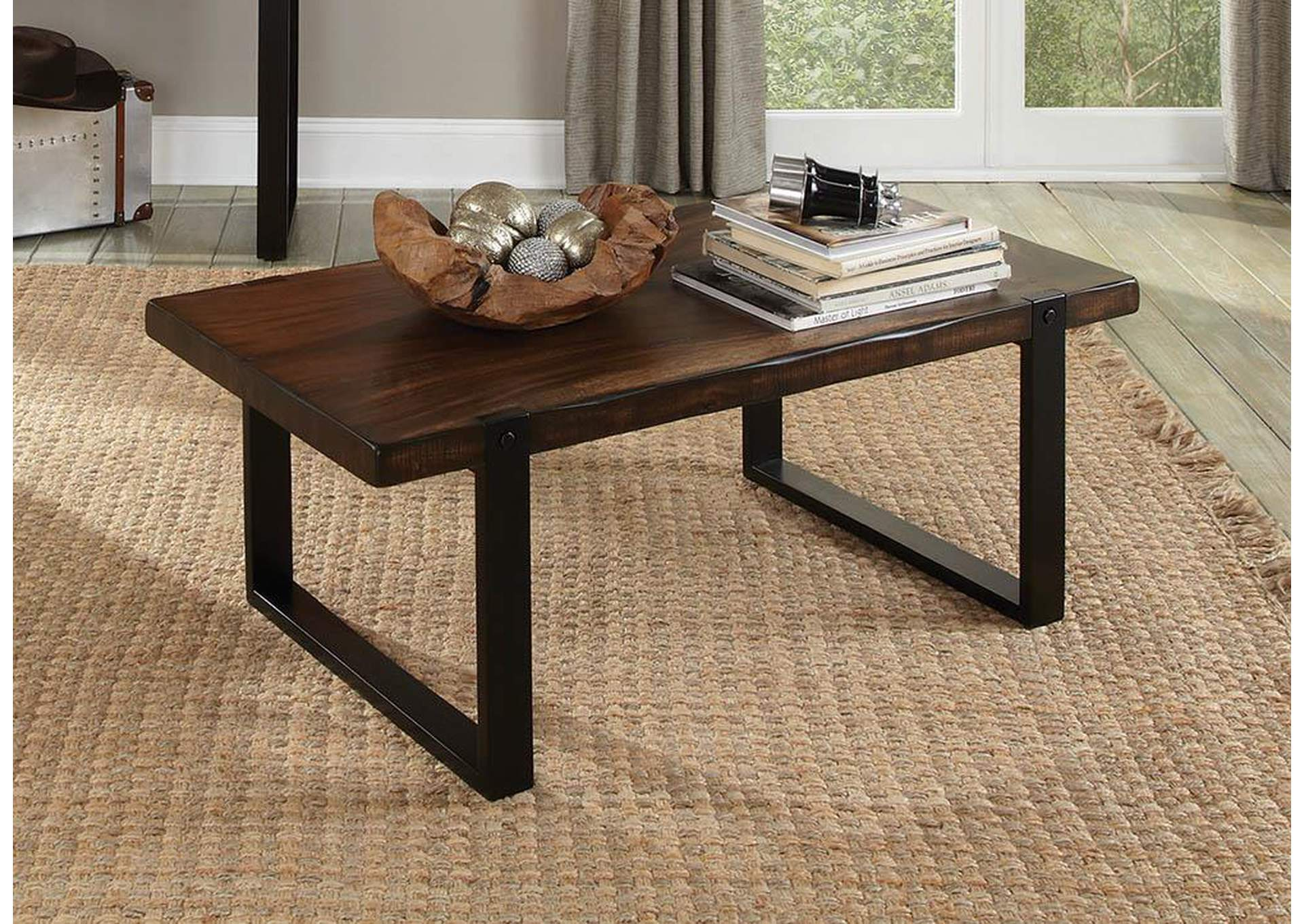 furniture world nw brown black coffee table