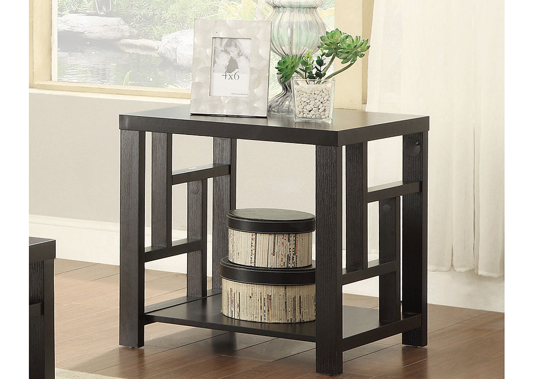 Irving Blvd Furniture Cappuccino End Table