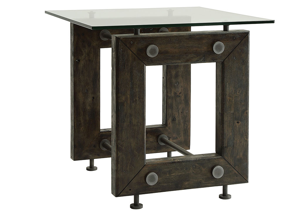 Furniture Palace Brown Black End Table