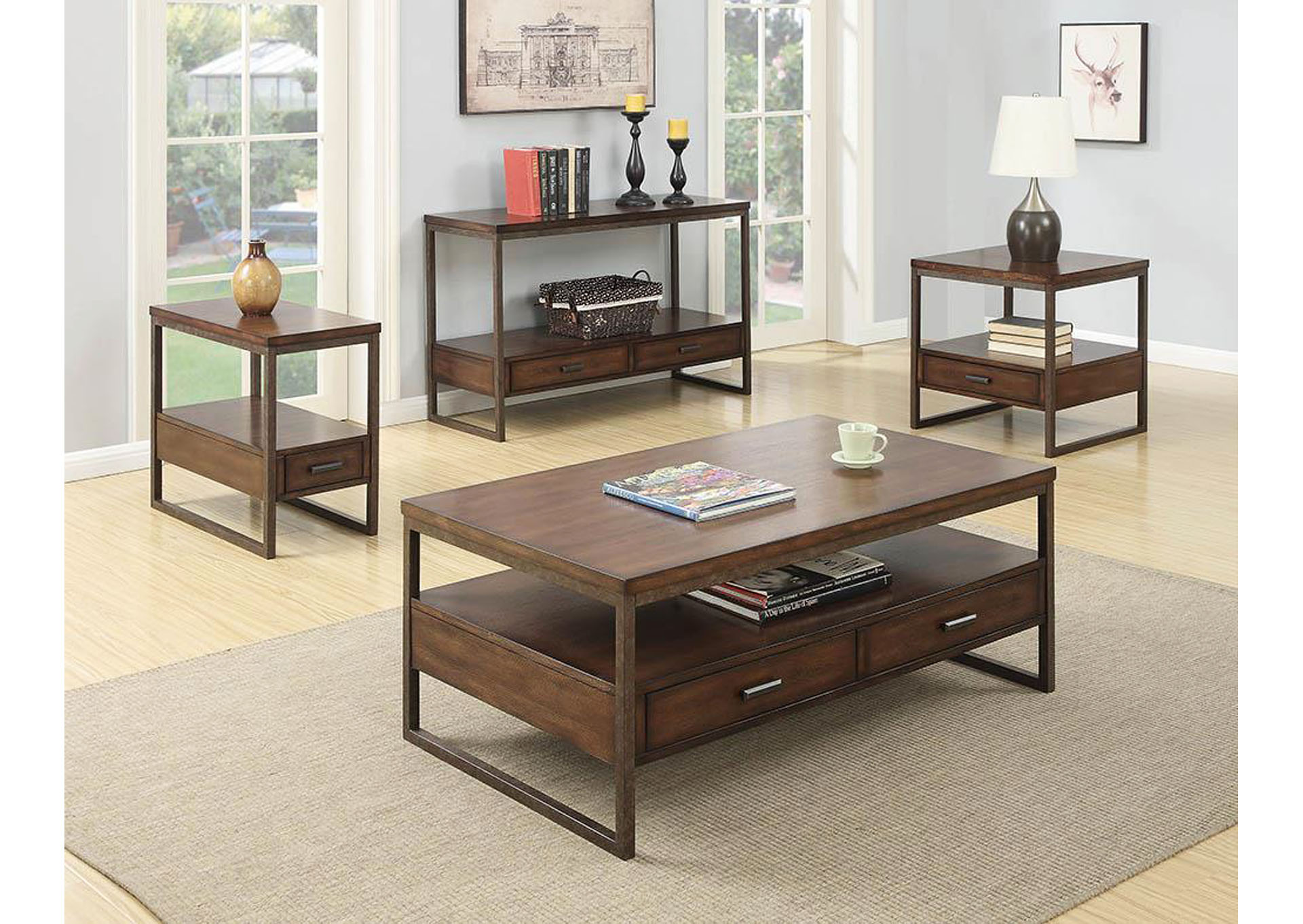 Atlantic Bedding And Furniture Light Brown Coffee Table