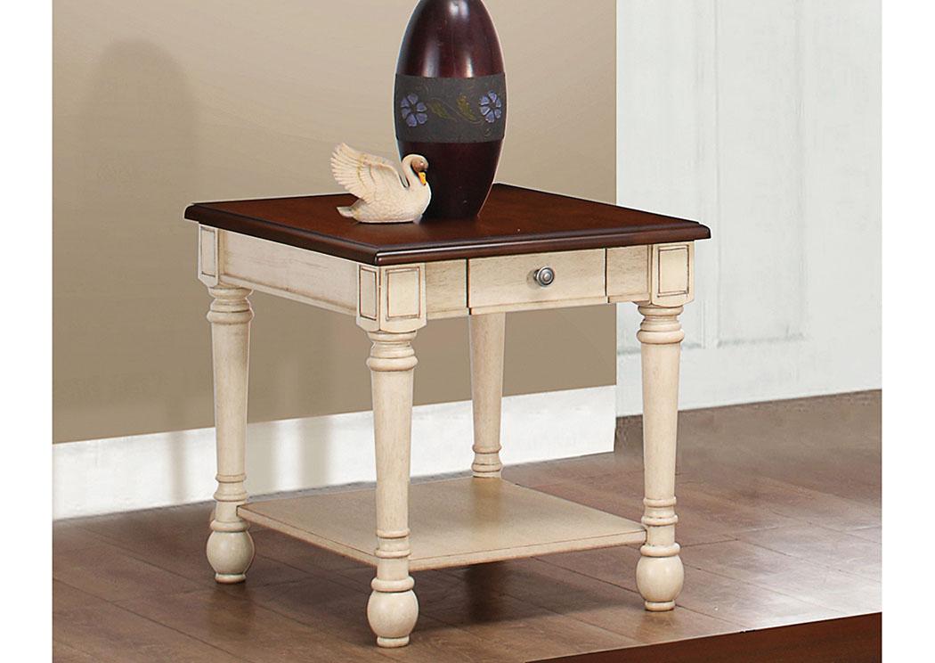 Furniture Liquidators Baton Rouge La Dark Cherry Antique White End Table
