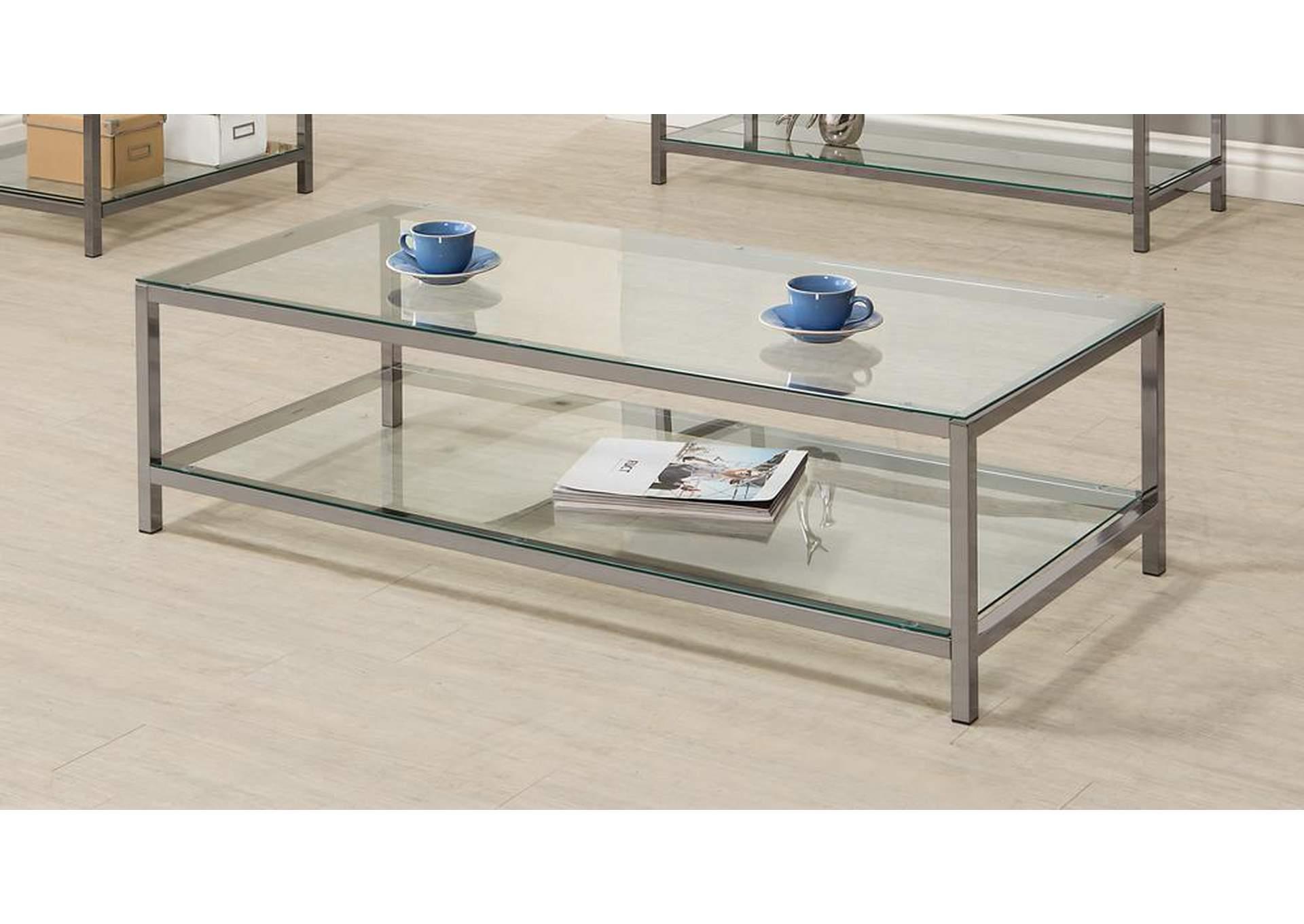 Atlantic Bedding And Furniture Black Nickel Coffee Table