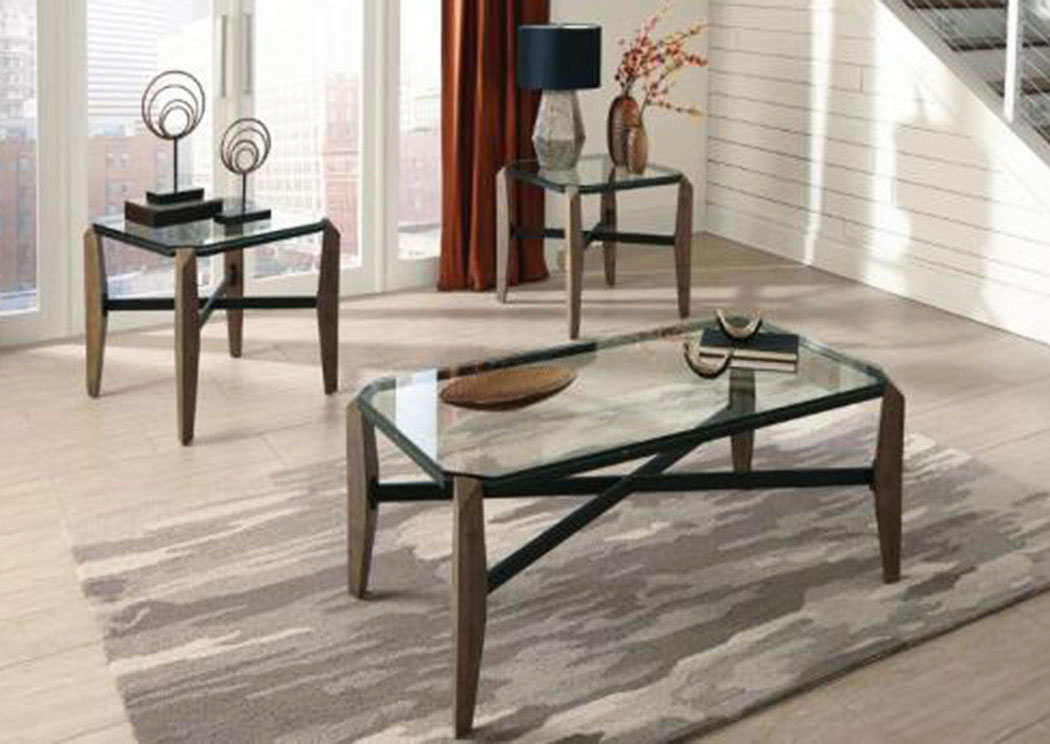 United Furniture Style Springfield Pa Rustic Coffee Table Set