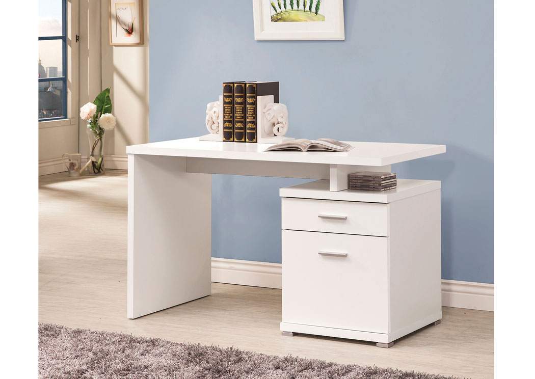 White Desk,Coaster Furniture