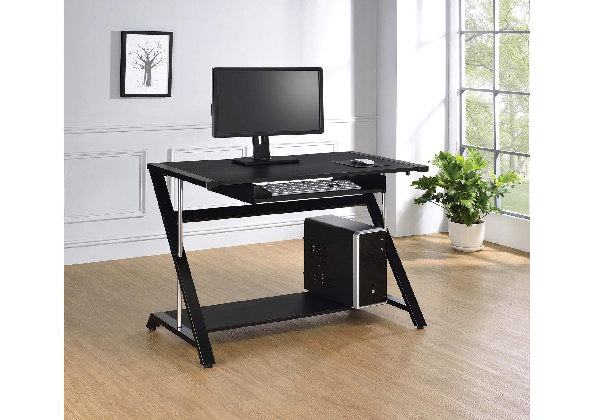Black Computer Desk,Coaster Furniture