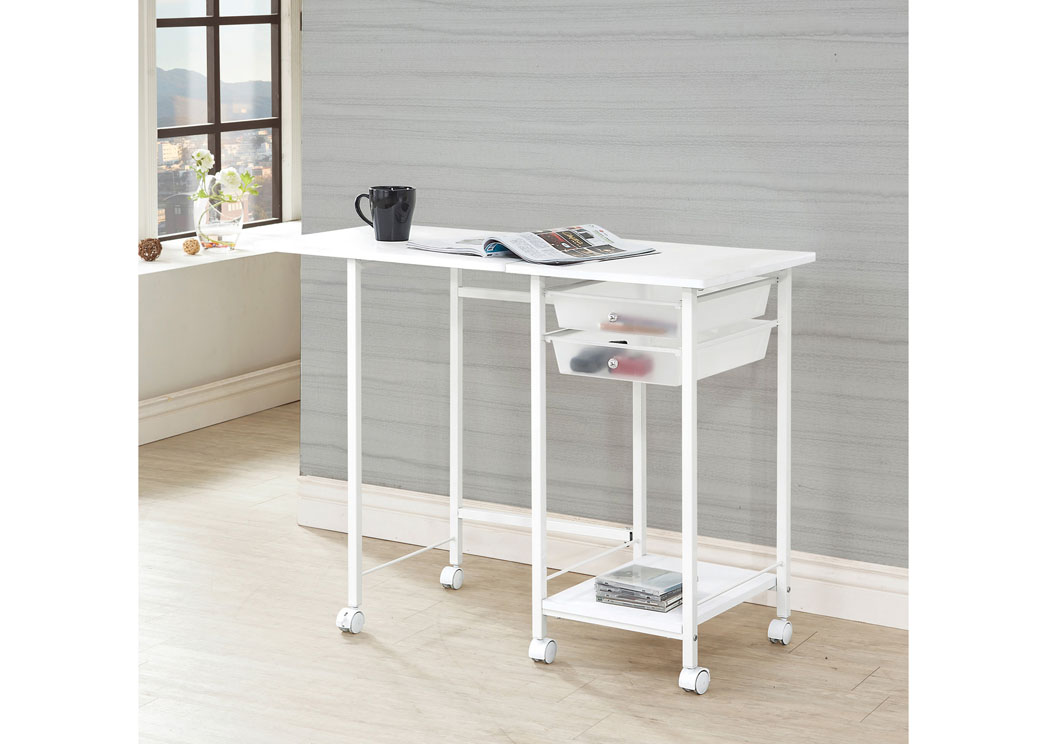 White Desk Set,ABF Coaster Furniture