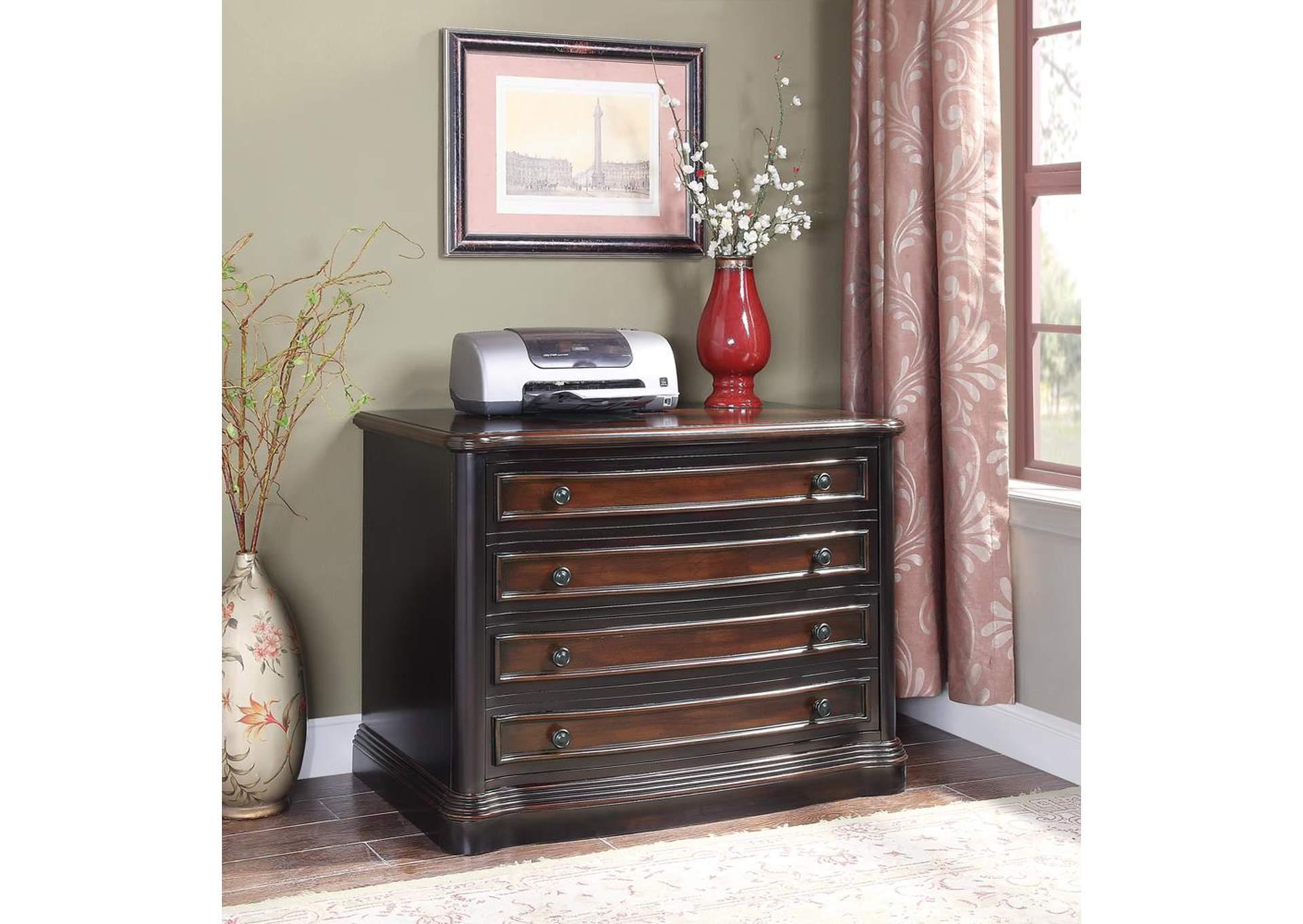 Furniture Palace Black Cherry File Cabinet