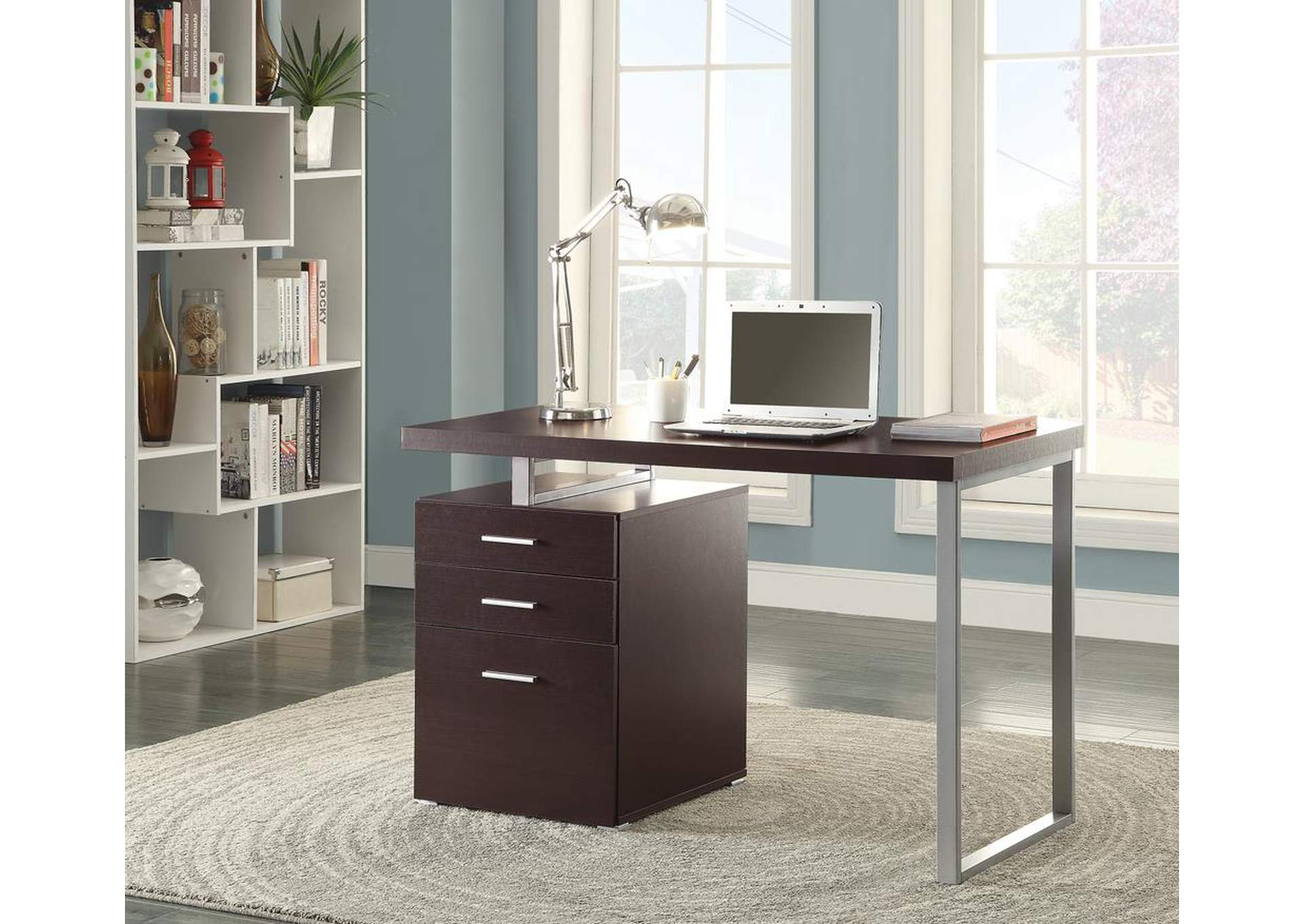 Cappuccino Writing Desk,Coaster Furniture