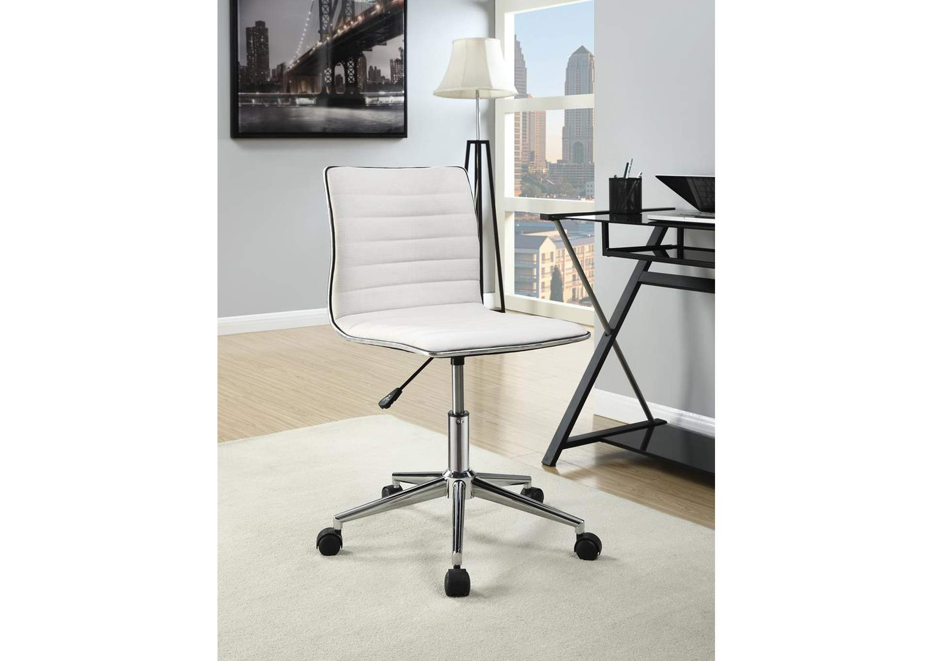 Brothers Fine Furniture Cream Office Chair