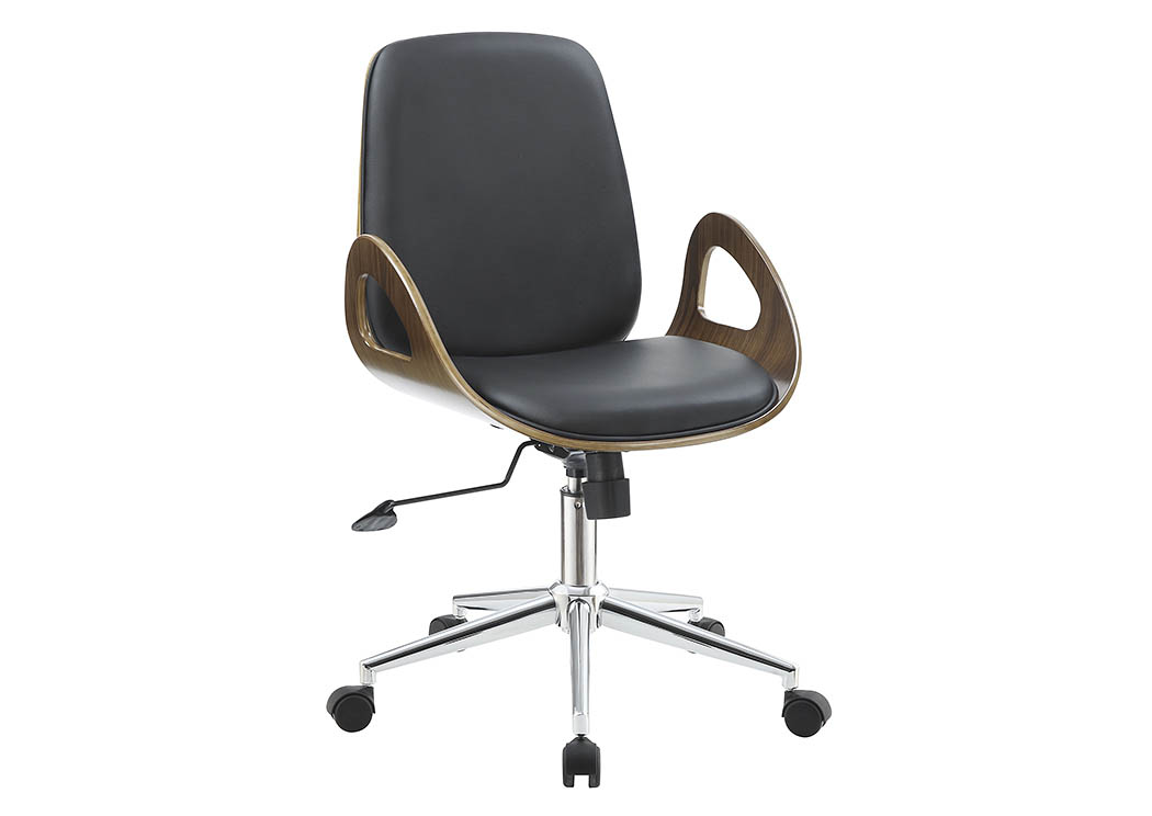Black Leatherette Office Chair,Coaster Furniture