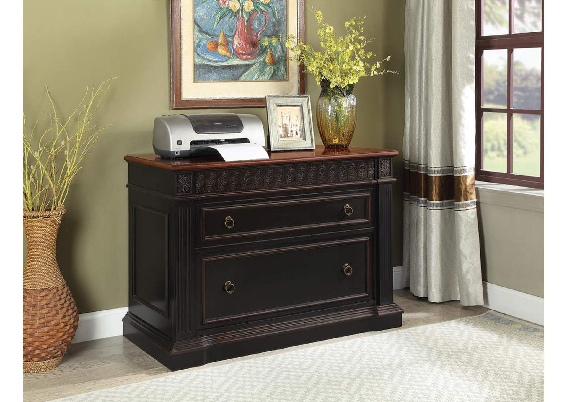 Best Buy Furniture And Mattress Two Tone File Cabinet