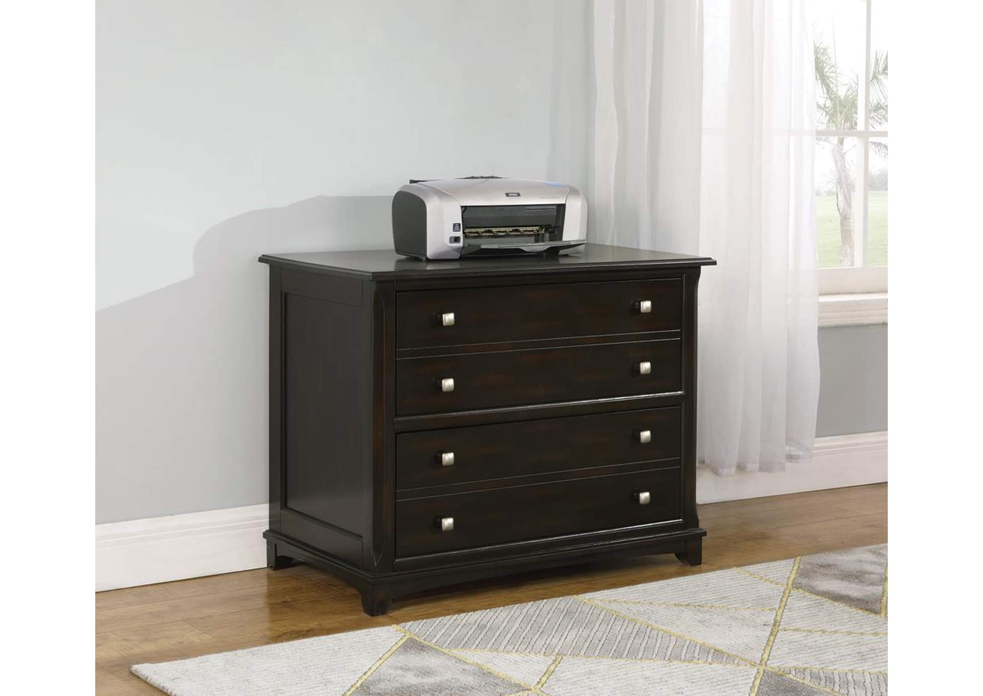 Garson Walnut File Cabinet,Coaster Furniture