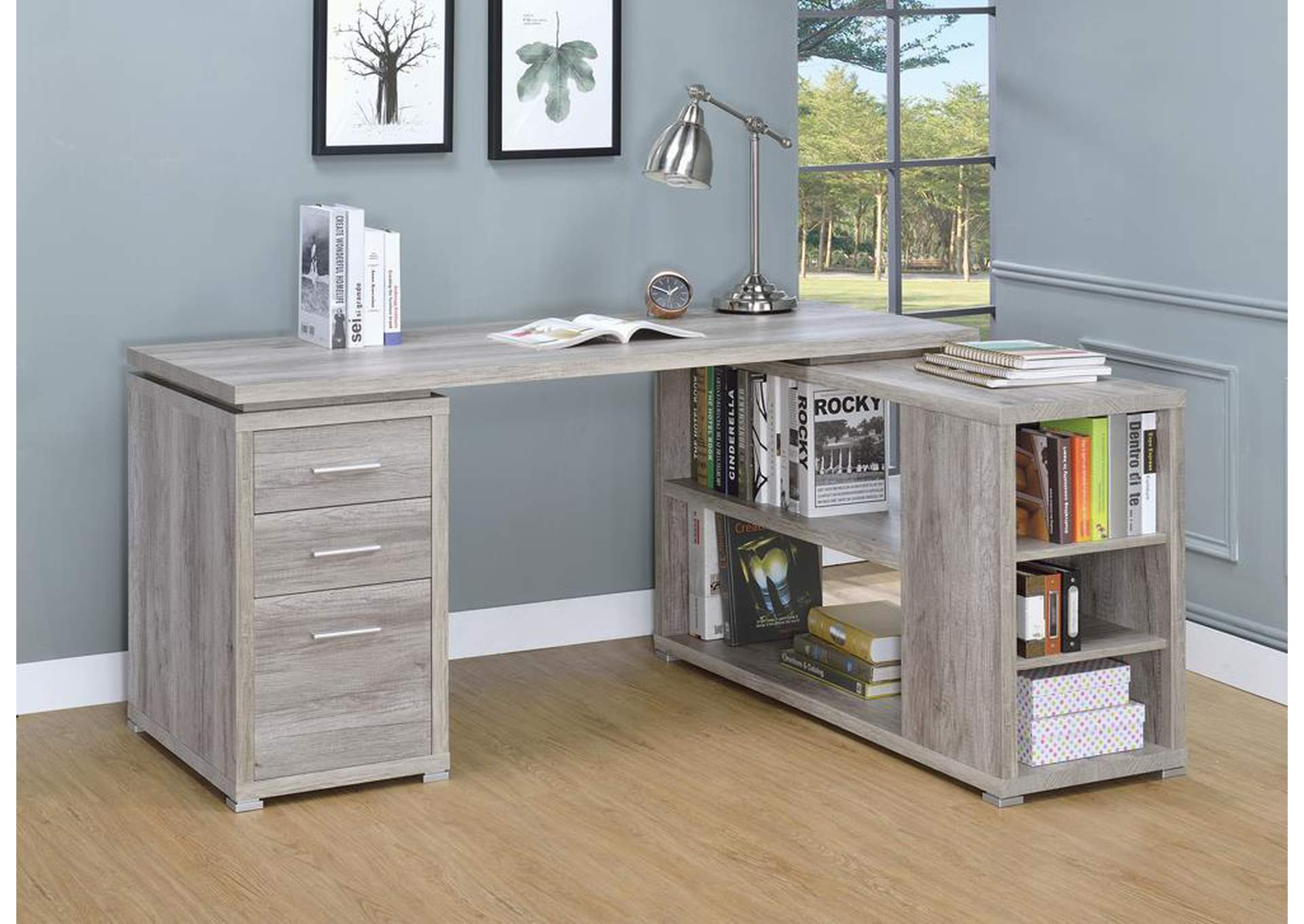 Grey Driftwood Office Desk,Coaster Furniture