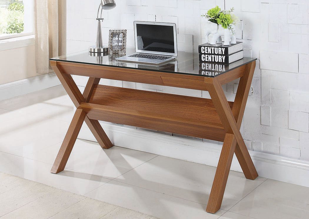 Light Walnut Writing Desk,Coaster Furniture