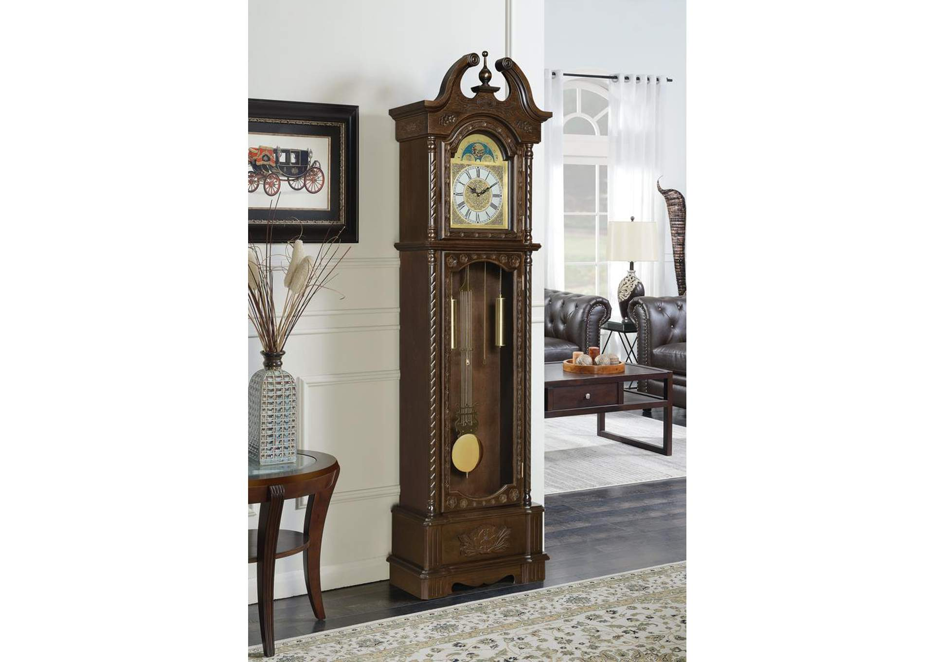 Brown Grandfather Clock,Coaster Furniture