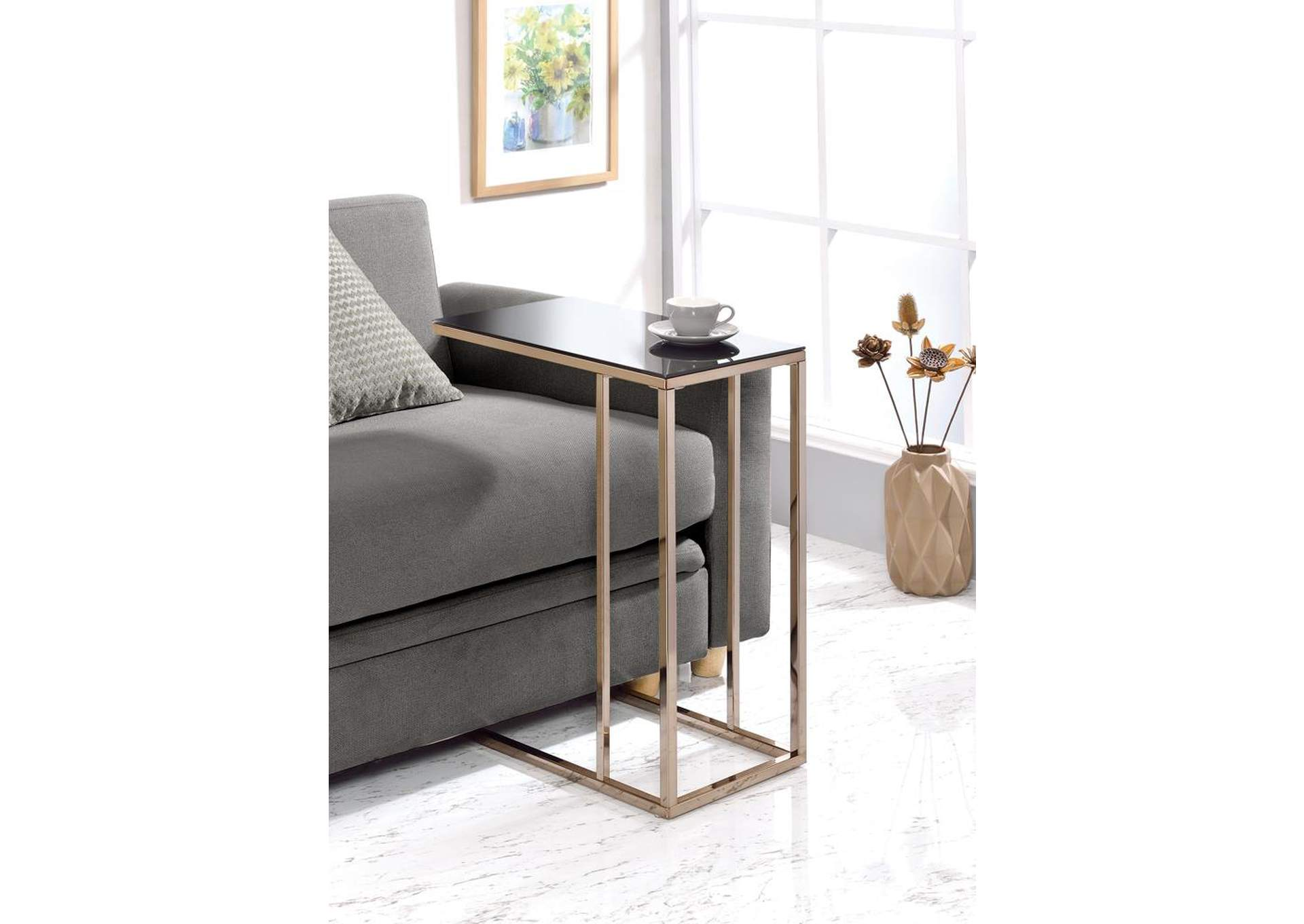 Chocolate Chrome Snack Table,Coaster Furniture
