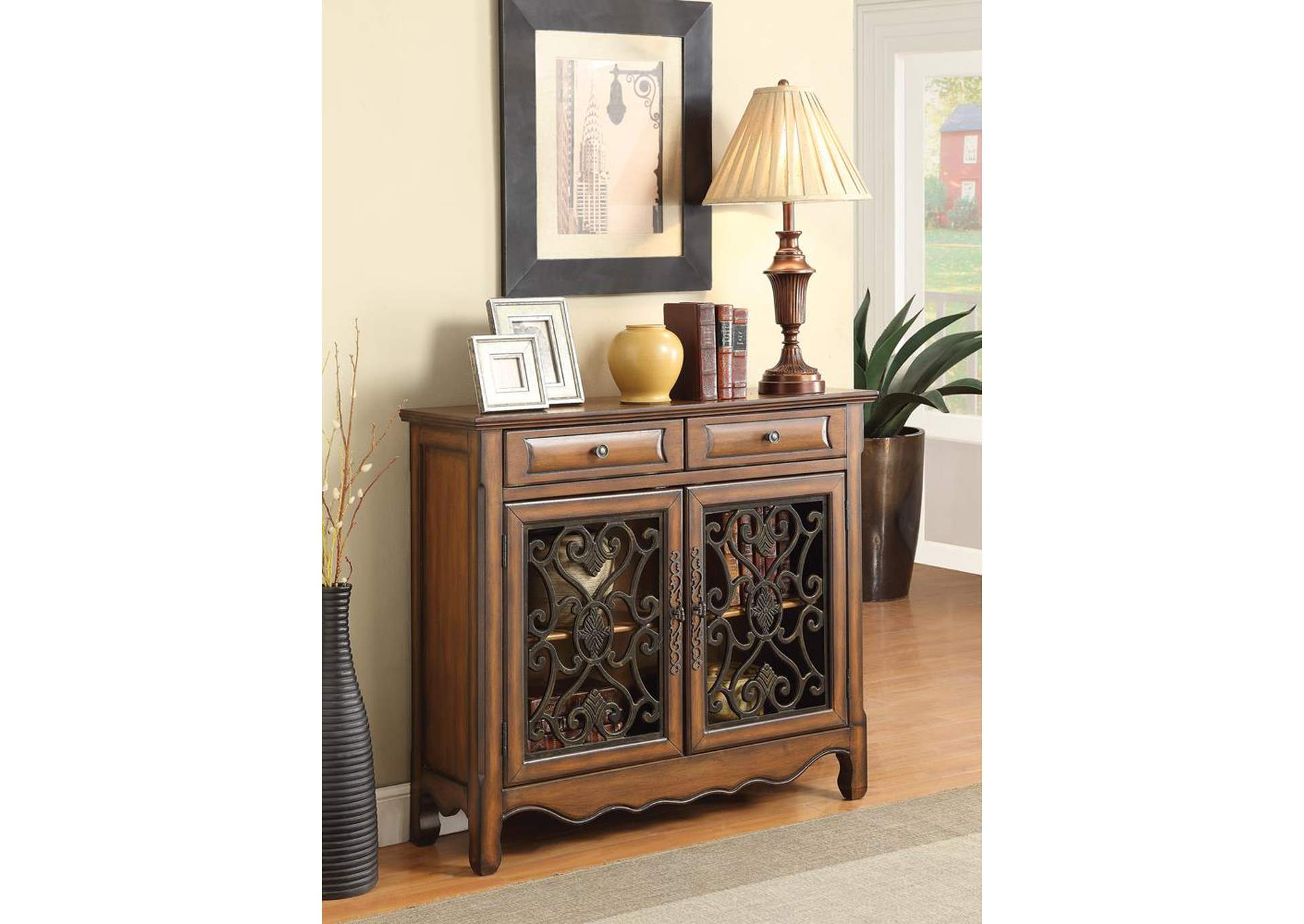 Compass Furniture Bronze Accent Cabinet