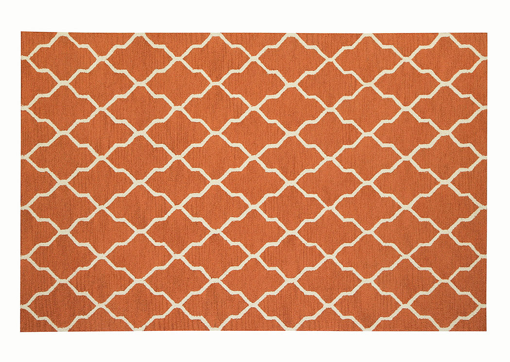 Orange Pattern Rug 5' X 8',ABF Coaster Furniture