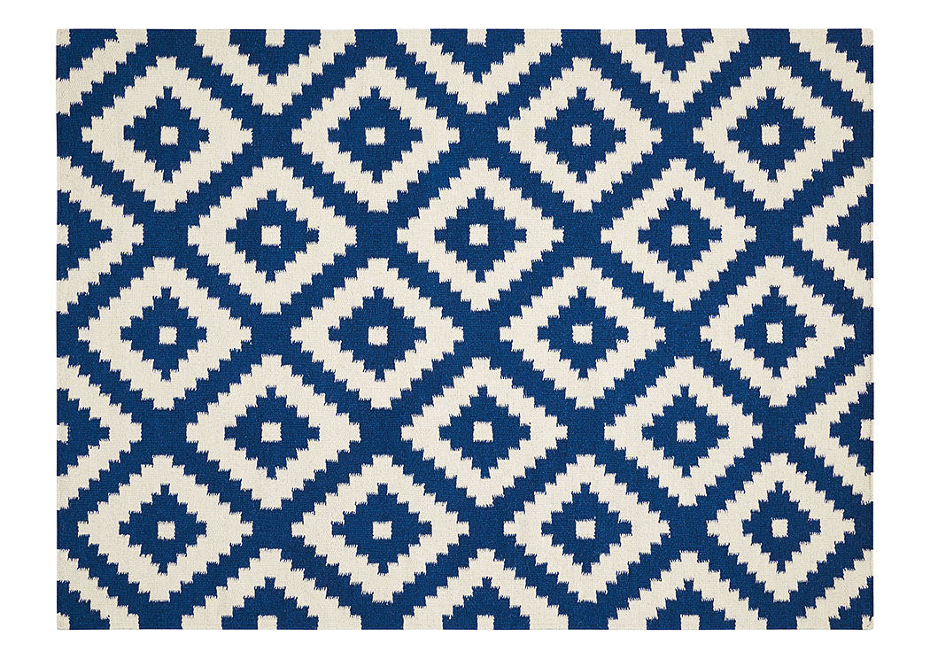 Blue/White Rug 5 X 7,Coaster Furniture